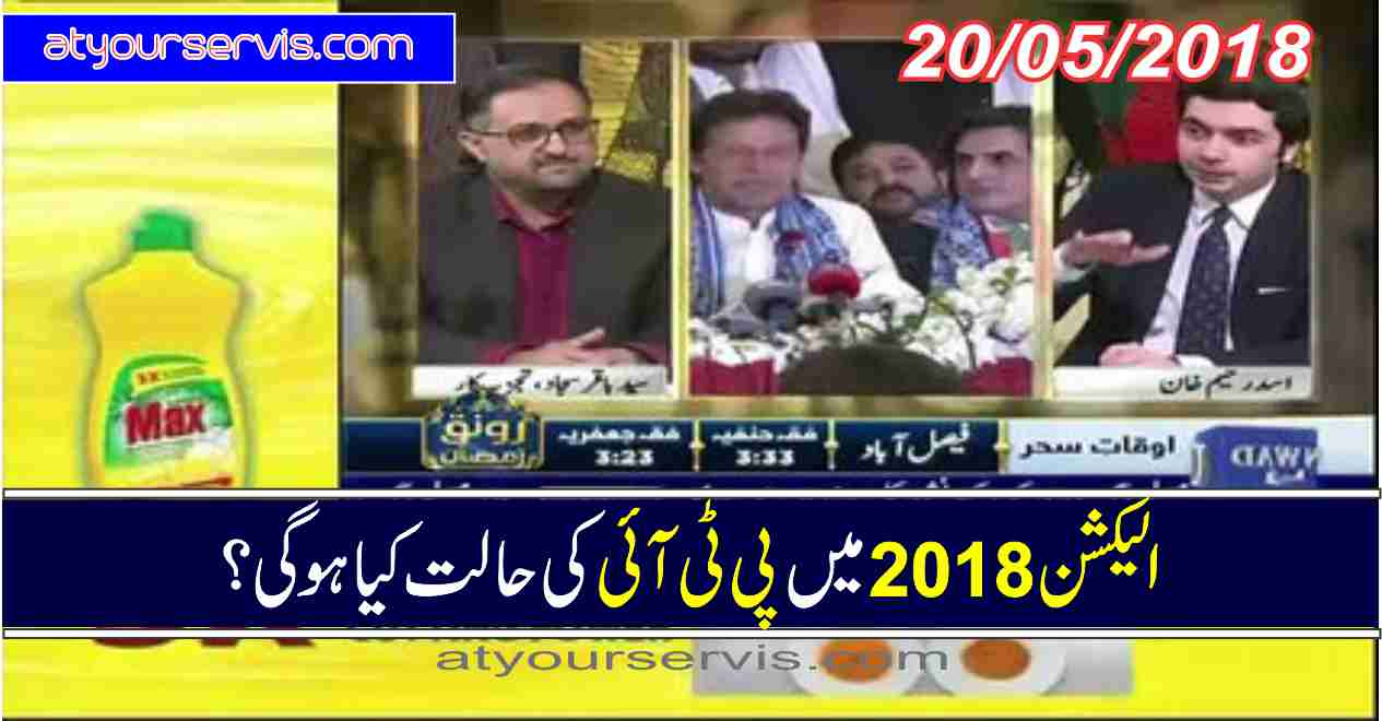 20 May 2018 - Election 2018 And PTI Position
