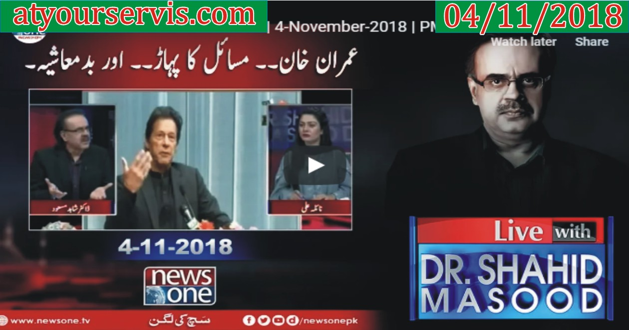 04 Nov 2018 - Challenges For Imran Khan